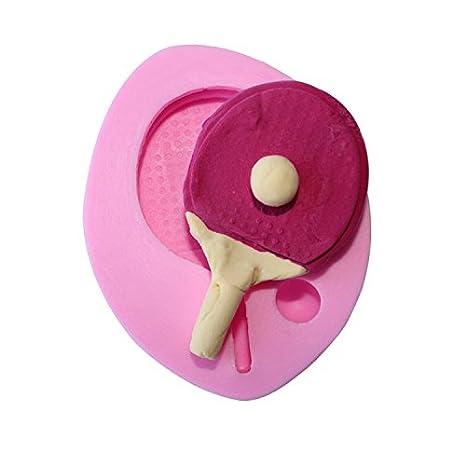 Raqueta de tenis de mesa Witkey forma de silicona decorar Craft molde para tartas Cupcake Fondant Chocolate Jello Candy para galletas y jabón mold: ...