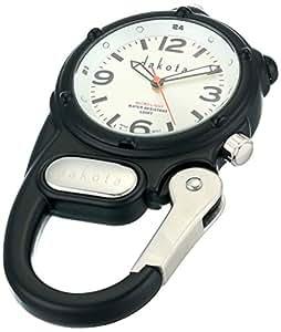 Dakota Watch Company Mini Clip with Microlight Dial, Mens, Black/Silver