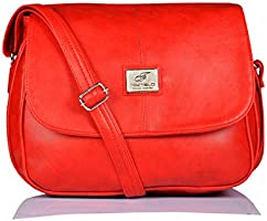 Fostelo Women's Sling Bag (Red) (Fsb-307)