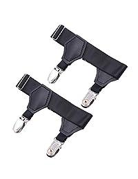 D DOLITY Calcetín Ajustable Para Hombres Calcetería Doble Resistente Clip Sujetador De Cinturón Elástico