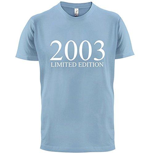 2003 Limierte Auflage / Limited Edition - 14. Geburtstag - Herren T-Shirt - Himmelblau - XXL