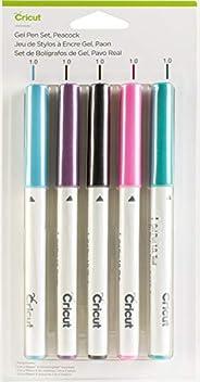 Cricut - Juego de bolígrafos de gel, diseño de pavo real
