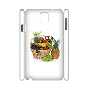 3D Okaycosama Funny Samsung Galaxy Note 3 Case Fruit 15 Cheap for Girls, Samsung Galaxy Note 3 Case for Men, [White]