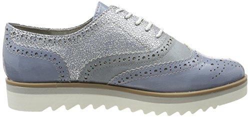 Brogue com Mujer Azul Cordones Marco de Zapatos 23705 Tozzi para Denim Pat qPwSX7