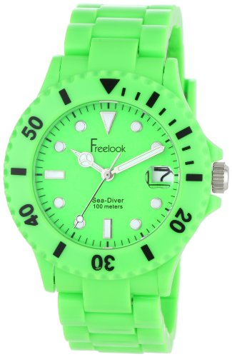 freelook-womens-ha1431-4-sea-diver-neon-green-band-green-dial-watch