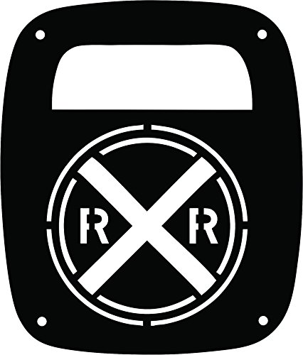 - JeepTails Railroad Crossing - Jeep TJ Wrangler Tail Lamp Covers - Black - Set of 2