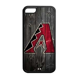 Arizona Diamondbacks Design Theme Back TPU Case for iPhone 5C-by Allthingsbasketball