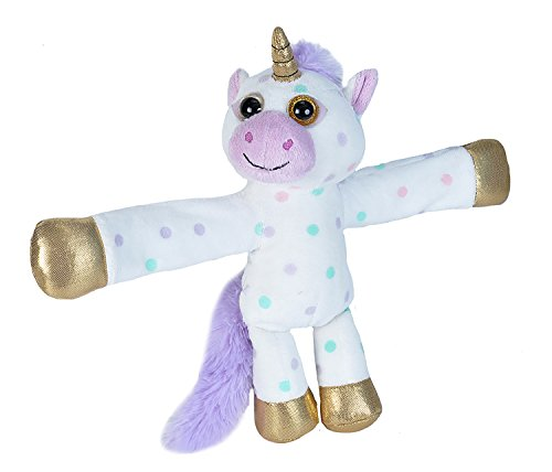 Wild Republic Huggers Unicorn Plush, Slap Bracelet, Stuffed Animal, Kids Toys, Unicorn Party Supplies, 8 inches -