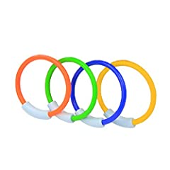 Why choose WOTOW diving rings? 1. WOTOW has long focused on the high quality of products and customer experience over time and we have a strong team who will endeavor to offer superior after-sales service.  2. Our 4-piece diving rings set is ...
