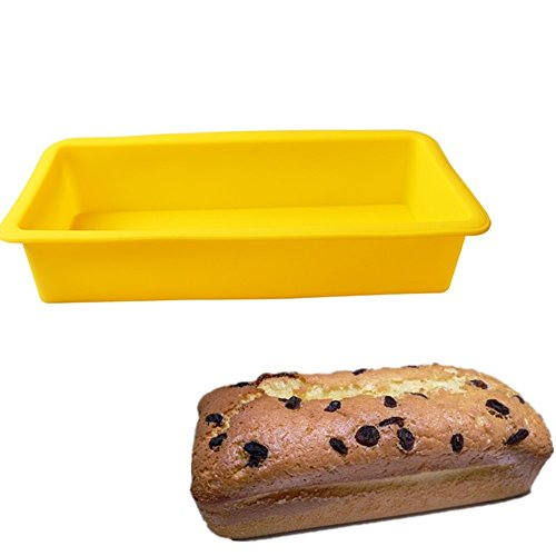 SuperStores 1PC Rectangular Silicone Cake Mold 3D Fondant Bread Soap Chocolate Toast Bakeware Baking Mould DIY Christmas Cake Tools