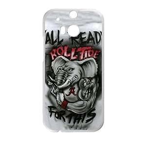 Alabama Crimson Tide HTC One M8 Cell Phone Case White TPU Phone Case SV_080897