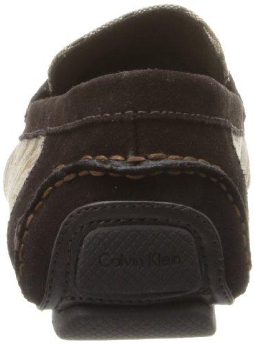 Calvin Klein Men's Michael Jacquard Slip-On Loafer,Khaki,10.5 M US