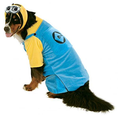 Big Dog Minion Costume & Bag of Treats - Costume Dog Minion