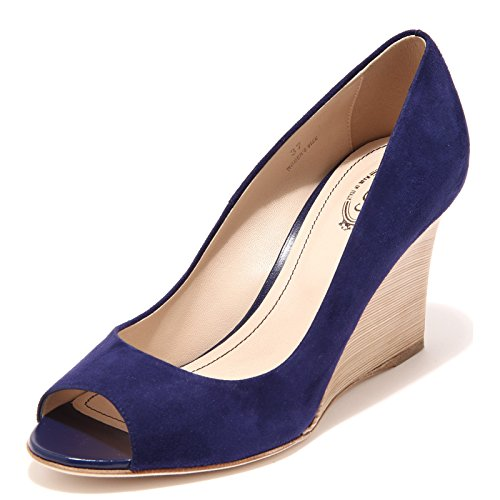 Shoes Zeppa Tod's Bluette 58380 Women Scarpa Bluette RD spuntato Decollete Donna 8qZqtf