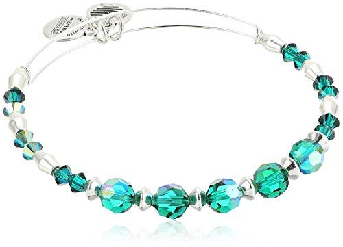 Alex and Ani Swarovski Crystal Beaded, Pine Bangle Bracelet
