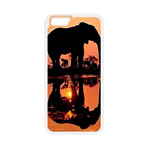 Hjqi - Personalized Elephant Cell Phone Case, Elephant Customized Case for iPhone6 Plus 5.5""