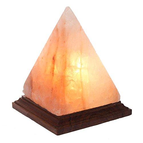 Pyramid Himalayan Salt Lamp Natural Crystal Sea Salt Rock Night Light Electric Bulb Cord