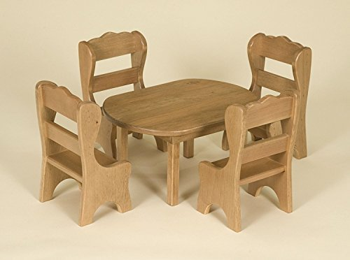 Girl Doll That Girl Doll Oval Table And Chairs Set American Made Amish Wooden Furniture For Sale