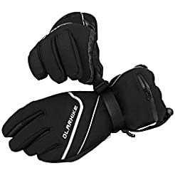 OlarHike Men's Ski Gloves, Winter Snow G...
