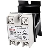 uxcell® SSR-40DA-H DC-AC 40A Solid State Relay 3-32VDC/90-480VAC + Heat Sink