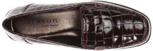 Aravon Womens Whitney Slip-on Brown Croc