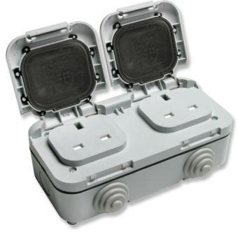 2 x Timeguard TPS201 External Double Sockets 13A
