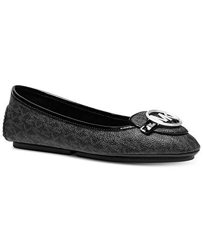 Michael Kors Lillie Moccasin Flats (9 M US, Black Logo) ()