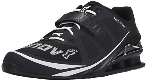 Inov-8 Men's Fastlift 325 Weightlifting and Fitness Shoe, Black/White, 9.5 D US