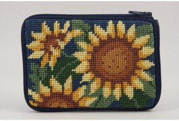 (Coin Purse - Sunflower - Needlepoint Kit)
