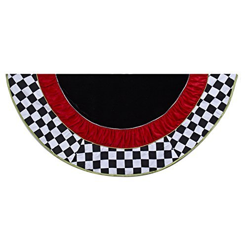 Kurt Adler 52 in. Black and White Checkered Treeskirt by Kurt S. Adler