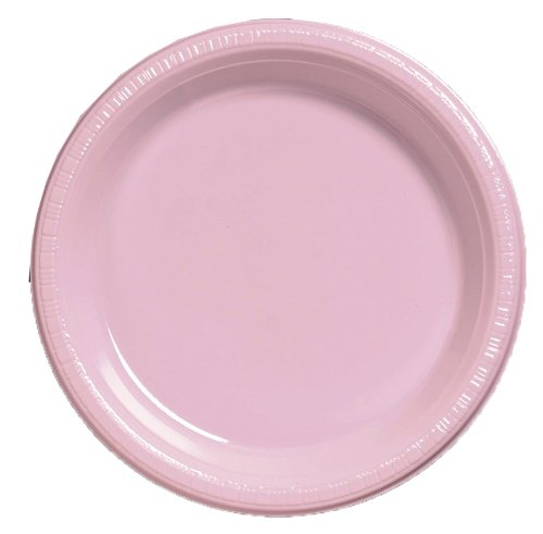 Creative-Converting-20-Count-Touch-of-Color-Plastic-Dinner-Plates-Classic-Pink