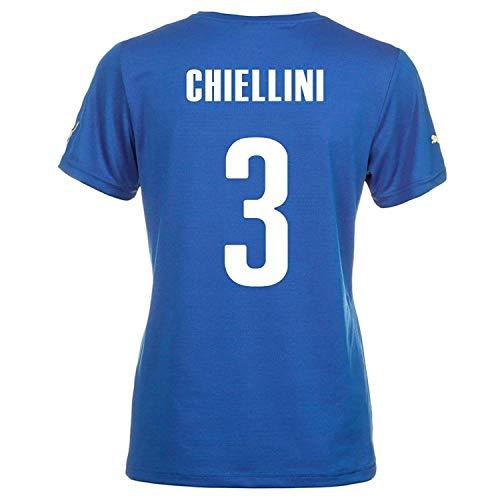 摘む島タービンPuma CHIELLINI #3 Italy Home Jersey World Cup 2014 (Women)/サッカーユニフォーム イタリア ホーム用 ワールドカップ2014 背番号3 キエッリーニ レディース