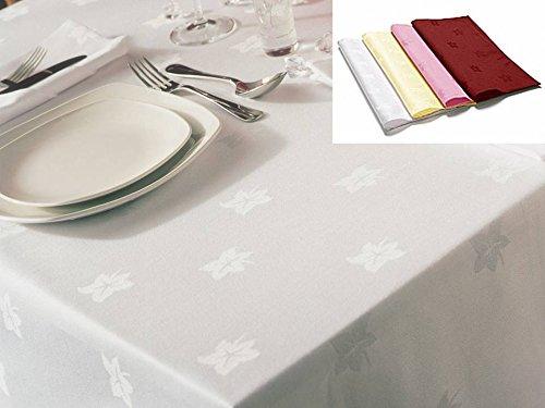 Linenwalas Premium Damask Ivy Leaf Design Cotton 5 Piece Table Cover Set