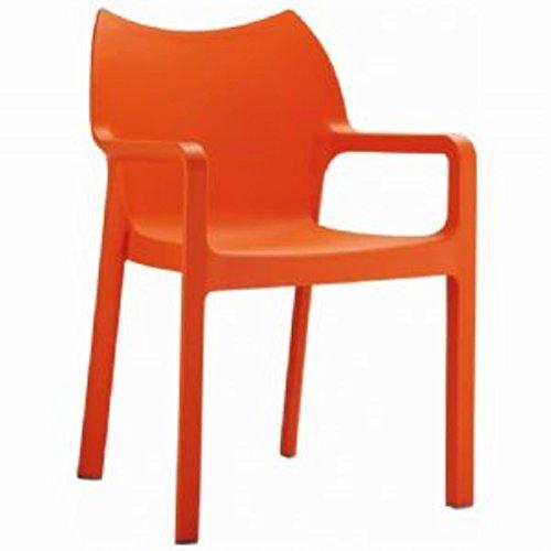 Compamia Diva Stackable Armchair [Set of 4] Orange ()