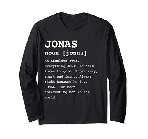 (Jonas Long Sleeve for Men Named Jonas Funny Trendy)