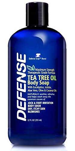 Oils Natural Formulated Healing (Defense Soap Body Wash Shower Gel 12 Oz - Natural Tea Tree Eucalyptus Oil)