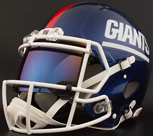 ork Giants Full Size NFL Speed Authentic Football Helmet ()