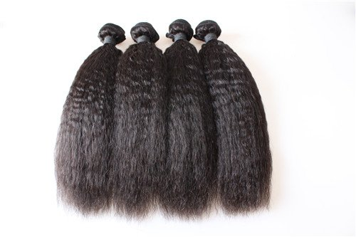 """HairPR Hair 100% Cambodian Human Virgin Hair extensions 3 Bundles 10""""-28"""" Kinky Straight Natural Color Can be dyed"""