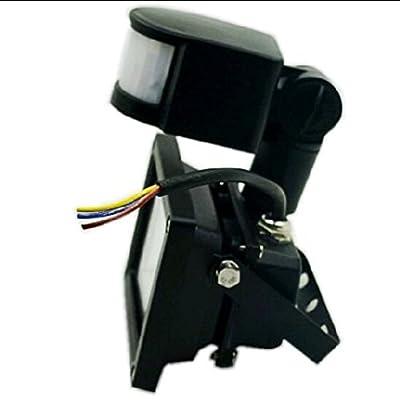 Warm White, 10W : 10W Back Shell LED Flood Light Outdoor Lamp PIR Motion Sensor Waterproof IP65 Induction Garden Light 85-265V