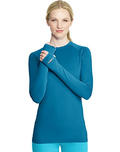 Duofold Women's Light Weight Thermatrix Performance Thermal Shirt, Underwater Blue, XL
