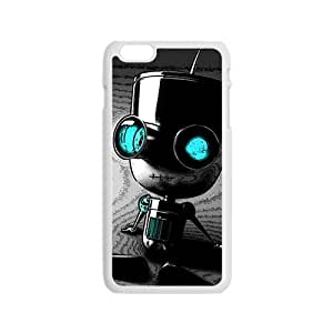 Cute Seated robot Cell Phone Case for Iphone 6