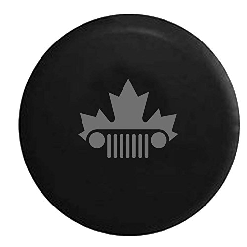 stealth-jeep-wrangler-jk-tj-grill-canadian-maple-leaf-mountie-spare-tire-cover-oem-vinyl-black-30-31