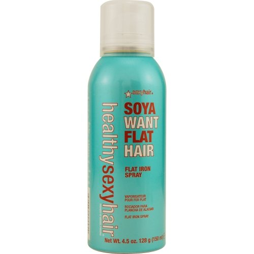 SEXY HAIR by Sexy Hair Concepts HEALTHY SEXY SOYA WANT FLAT IRON SPRAY 4.5 OZ ( Package Of 5 ) by Sexy Hair