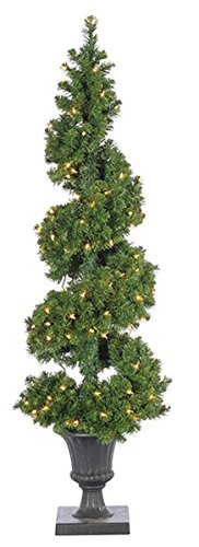 Outdoor Lighted Porch Christmas Trees in US - 8