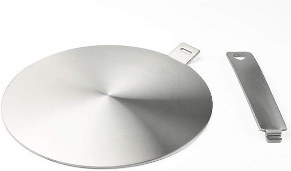 Runzi - Adaptador de inducción, disco convertidor de placa de cocción de inducción, placa de difusión de calor, con mango y base separables, 24 cm: Amazon.es: Hogar