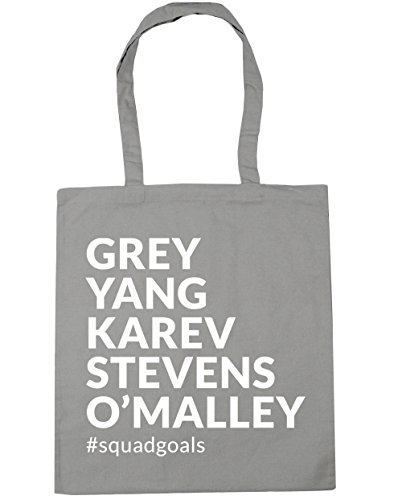 O'Malley x38cm Karev Light Grey Bag 42cm HippoWarehouse Shopping Yang litres Stevens Gym Tote squadgoals Beach 10 Grey TwTIZxS7