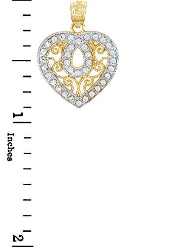 Petits Merveilles D'amour - 14 ct Or 585/1000 - Des tonnes Or Avec Deux Fantaisie-Cœur Pendentif