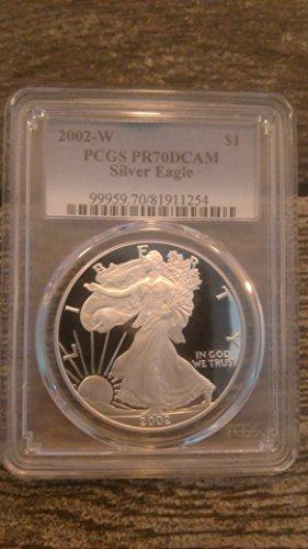 2002 W Silver Eagle $1 PR-70 PCGS