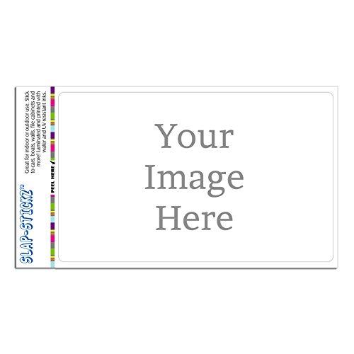 Graphics and More Self-EEZ(TM) Custom Personalized Slap-STICKZ(TM) Premium Horizontal Sticker