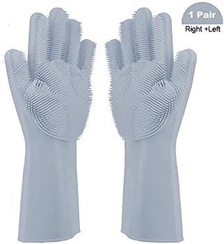 ANUOEXGO Magic Washing Reusable Scrubber Gloves